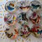 9 x Butterfly glass domes 20mm for jewellery making , cards etc.