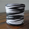 FULL ROLL - 100 Metres - Black & White Paper Raffia