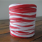 FULL ROLL - 100 Metres - Red & White Paper Raffia