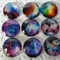 9 x Nubella glass domes 20mm for jewellery making , cards etc.