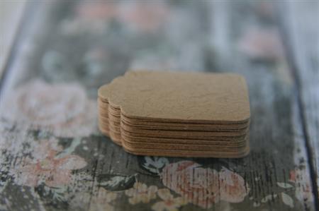 50 Mini Kraft Brown Blank Tags ~ Mini Swing Tags ~ DIY projects ~ Price Tags