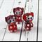 Set Of Three Red Glass Cat Beads