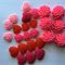 25pcs Resin Rose Flower heart Cabochons mix beads Flat back