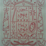 Machine Embroidery Quilt/Craft Block Redwork silent Night Design
