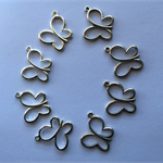 8 butterfly pendants charms silver