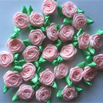 24 ribbon Flowers hair clips Shabby Chic Hair