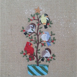 Machine Embroidery Craft Block Christmas Tweet Design