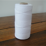 FULL ROLL - 220 Metres Solid White Twine - 4 Ply
