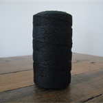 FULL ROLL - 220 Metres Solid Black Twine - 4 Ply