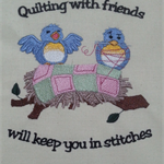 Machine Embroidery Quilt/Craft Block Quilting With Friends Design