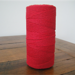 FULL ROLL - 220 Metres Solid Red Twine - 4 Ply