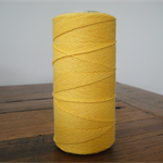 FULL ROLL - 220 Metres Solid Yellow Twine - 4 Ply