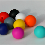 20x15mm Round Silicone Teething Beads