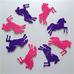 Horse animal shape embellishment vinyl stickers pink purple