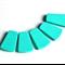 5xTrapezoid Silicone Teething Beads Turquoise