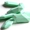10xSalix Leaf Silicone Teething Beads Mint