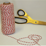 Red & White Bakers Twine. Red Bakers String. 5 Meters. String. Twine.
