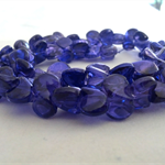 50 x Glass Foil Propeller Beads - Dark Blue