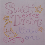 Machine Embroidery Quilt/Craft Block Sweet Dreams Little One Design