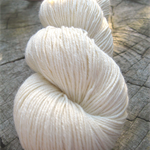 Undyed Sock Yarn, cotton and wool blend knitting yarn, dye your own, 100g, 420m