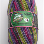 Opal Sock Yarn, Opal Rainforest X, self-striping knitting yarn, 100g, 425m
