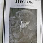 """Sewn Teddy Bear pattern """"Hector"""" by Lidiya Hudson"""