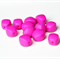 Chunky Olive Silicone Teething Beads x 5 Fuchsia