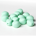 Chunky Olive Silicone Teething Beads x 5 Mint