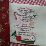 Machine Embroidery Quilt/Craft Block Sugar Cookies Recipe
