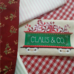 Machine Embroidery Quilt/Craft Block Christmas Train Peppermint Car
