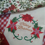 Machine Embroidery Quilt/Craft Block Merry Christmas Wreath