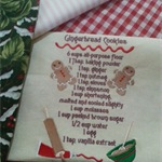Machine Embroidery Quilt/Craft Block Gingerbread Cookies Recipe