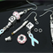 4 Pairs Dangle Earrings 50mm with Hook