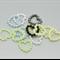 100 x Acrylic Pearl Imitation Heart Embellishments