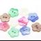 50 Mixed Flower Shell Buttons 18.5mm