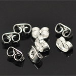 50 x Silver Plated Earring Back