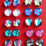 20pcs 12mm Handmade Photo Glass Cabochons
