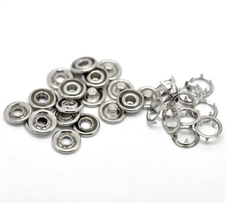 100 Snap Press Fastener Buttons 11mm