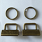 10 x Bronze Key Fob Hardware sets