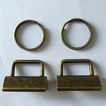 10 x Bronze Key Fob Hardware sets