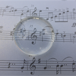 "20 x 1"" Glass Cabochons (clear)"