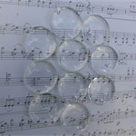 "10 x 1"" Glass Cabochons (clear)"