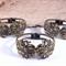 3x Hinged Brass Bangles / Bracelets / Cuffs