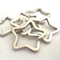 5 x 34mm Silver Plated Split Star Keyrings