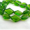 24 x Czech Fire Polish Diamond Cut Beads - Olive