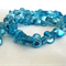 50 x Glass Foil Propeller Beads - Light Blue