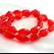 24 x Czech Fire Polish Diamond Cut Beads - Red