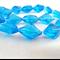24 x Czech Fire Polish Diamond Cut Beads - Medium Blue