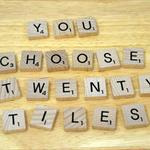Scrabble Tiles, 20 pieces of your choice