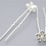 10 Rhinestone and Flower Hairpins